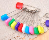 Wholesale Wholesale Cloth Diaper Safety Pins - Color safety pin Multi-purpose baby pins The baby safety pinBaby Dress Cloth Nappy Diaper Shower Craft Pins Game Kit Color