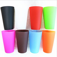 Wholesale Folding Wine Glass - Silicone Wine Cups rubber folding unbreakable glasses ware for beer Drinkware Outdoor Travel Beer Mug KKA1440