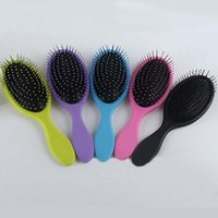 Wholesale Detangling Hairbrush - Most Popular Massage Hair Brush Hairbrush Paddle Brush Wooden Comb Makeup Tangle Styling Tools with retail package free shipping
