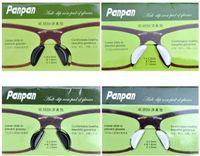ingrosso vetri imbottiti-20 paia / lotto nero e trasparente antiscivolo di buona qualità Silicagel Naso Pads stick sul naso Per plancia Occhiali da sole Occhiali Wholsale