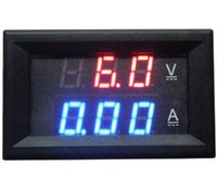 Par dhl / fedex 100pcs / lot DC 100V 10A LED Amp Dual Digital Bleu + Rouge Voltmètre Ammètre courant Volt Meter Gauge