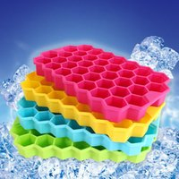 Wholesale cubed squared - Large Ice Cube Tray Pudding Jelly Maker Mold Honeycomb Square Mould Silicone DIY Tray Silicone Home Tools ADQ0003
