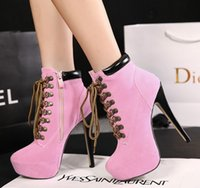 Wholesale Pink Rubber Like - sell like hot cakes Autumn and winter Short boots High with fine strap with Martin boots waterproof boots Woman fashion boots Free shipping