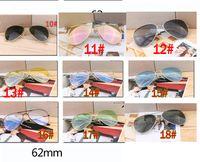 Wholesale reflective ladies sunglasses resale online - summer men fashion pink dazzling metal Sunglasses ladies driving goggle reflective sunglasses cycling glasses colors
