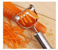 Wholesale Vegetable Carrot Potato Stainless Steel Peeler Grater Slicer Cutter Gadget Tool Color Silver