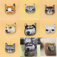 Wholesale Cheap Handmade Clothes - lovely cat brooch pins handmade boutonniere stick with fabric cat shape for lady, girls, kids' clothes & bags, 3D print cat pin, price cheap