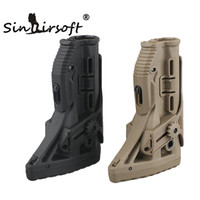 Wholesale Gl Shock Buttstock - Tactical GL-Shock Absorb Blow-back Defense Buttstock Recoil-reducing Mechanism Adjustable CheekPiece Stock For Airsoft FAB M4 M16 Hunting