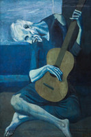 Wholesale Old Style Poster - Free Shipping PABLO PICASSO ART POSTER OLD GUITARIST High Quality Art Posters Print Wallpaper Photo paper 16 24 36 47 inches