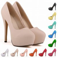 Wholesale white high heels size 11 - Calzado Mujer GIRLS WOMEN PLATFORM PUMPS HIGH HEELS STILETTO COURT SHOES SIZE US 4 5 6 7 8 9 10 11