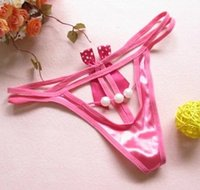Wholesale Bead Massage Underwear - wholesale 3pcc lot lady's T Pants   thong  Tback panties G-trings Massage bead underwear aghg