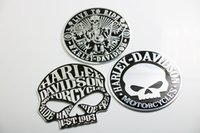 Wholesale Skulls Stickers - 3D Metal 9 cm LIVE TO RIDE Skull Car Motorcycle Emblem Badge Decal Sticker 2017 hot
