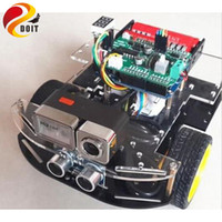 Wholesale Rc Nitro Car Kits - Wholesale- Original DOIT RC Car for Arduino with HD Camera+WiFi+Uno board+Uno Shield+Car Chassis+ Accessory DIY Development Kit
