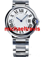 Wholesale Ca Designs - Fashion Design Ladies Quartz blue Watch Stainless steel Women's Wrist Watches CA silver watch strap Free shipping Christmas gifts
