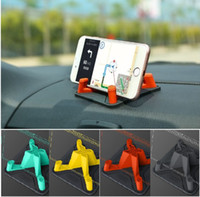 Soft Silicone Mobile Phone Car Holder Dashboard GPS Socket Anti Slip Mat Stand Suporte para iPhone X 8 7 6 Samsung Tablet