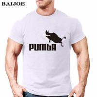 Wholesale Cool Long Women Shirt - Wholesale- 2017 BAIJOE funny tee cute t shirts homme Pumba men women 100% cotton cool tshirt lovely kawaii summer jersey costume t-shirt
