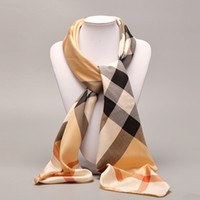 Wholesale Square Satin Scarves - Wholesale-100*100cm Woman Satin Square Scarves Polyester Scarf Professional Silk Scarf Print For Lady