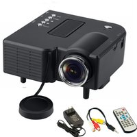 Hot UC28 Mini LED Digital Video Game Projektor Home Multi Media Player Eingänge AV VGA USB SD HDMI Proyctor Eingebaute Lautsprecher Daten Show