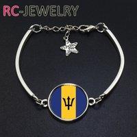 Wholesale Cup Chain Settings Wholesale - 2017 Fashion Jewelry Barbados football team Flag bracelet Hand-made World Cup Alloy bracelet Bracelet Bangle