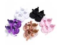 Wholesale Cheap Toddler Flower Girl Shoes - Lace flowers baby toddler shoes cheap children's soft soled shoes 2017 new girls spring & autumn shoes free shipping 10pair