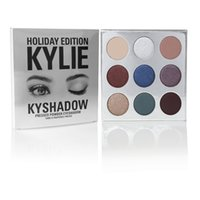 Wholesale Long Satin Bags - kylie Holiday Edition Kylie Cosmetic Limited Collection Kyshadow Palette matte lipstick makeup bag creme shadow Christmas gift 1pcs