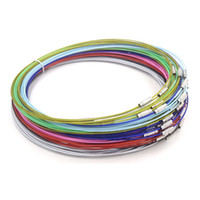 "Wholesale steel wire cord necklace - Stainless Steel Wire Choker Necklace 18"" Mix Color Collares Populares Materials To Make Necklaces Cierres Para Collares 50Pc Lot"