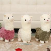 ingrosso regali arcobaleno per i bambini-Giocattoli per bambole di peluche di alpaca arcobaleno Kawaii Simpatici lama farciti Alpacasso Giocattoli farciti giapponesi Bambola Animali per bambini Regalo per bambini