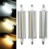 led r7s 5w lamba toptan satış-Dim r7s led 10 W 118mm 360 derece 5 W 78mm lampadas led r7s ampul 12 W 135mm 15 W 189mm yerine halojen lamba lamba 25mm çap MYY