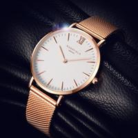 Wholesale Super Slim Watches - Super Slim Sliver Mesh Stainless Steel men 40MM dw Watches Women Top Brand Luxury Casual Clock Ladies Wrist Watch Lady Relogio Feminino