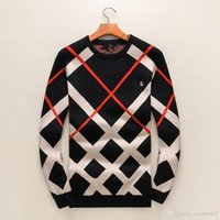 Wholesale Plaid Shirt Trend - Autumn and winter new long-sleeved sweater men's trend of round neck plaid printed sweater knit shirt