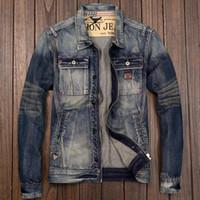 ingrosso giovani giapponesi-Giacca da uomo in pelle con cerniera da motociclista Giacca in stile giapponese da uomo slim fit in jeans slim primavera autunno