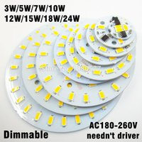 Wholesale 10pcs ac v led pcb SMD5730 w w w w w w w w integrated ic driver White Warm White Light Source For LED Bulb