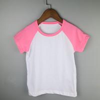 Wholesale Baseball Custom T Shirts - hot pink todddler custom tees infant raglan short sleeve shirts t-shirt summer kids clothes baseball top design your own shirt blank leisure