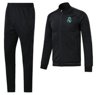 Wholesale Eco Man - AAA+top quality RONALDO tracksuit 2017 2018 Real Madrid jackets SERGIO RAMOS KROOS BENZEMA JAMES BALE ISCO 17 18 adult tracksuit jacketS