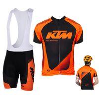 conjuntos cortos de ciclismo para hombre al por mayor-KTM 2017 TEAM ciclismo jersey pantalones cortos conjunto Ropa Ciclismo secado rápido ktm mtb ciclismo desgaste mens bicicleta Maillot Culotte
