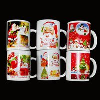 Wholesale Christmas Gift Cups - (48 piece) wholesale Color changing cup   Christmas ceramic cup, Christmas mug, Santa Claus snowman creative gift ceramic mug free shipping