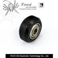 Wholesale Pom Wheels - TEVO CNC Openbuilds Plastic wheel POM with Bearings big Models Passive Round wheel Idler Pulley Gear perlin wheel for v-slot