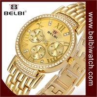 Wholesale Japanese Quartz Clock Movements - BELBI Luxury Women Watches Waterproof Quartz Japanese Movement AAA Fashion Ladies Clock Business Dial Dessgin For Female Wristwatches Brand