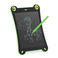 lápiz táctil lcd al por mayor-Barato 8.5 pulgadas de rana de dibujos animados LCD de escritura Tableta almohadillas Touch Pad Oficina Memo Board Refrigerador magnético Mensaje con Stylus pen regalo para niños 30pcs