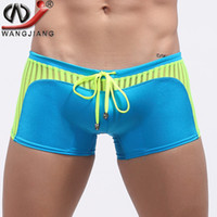 Wholesale Men S Boxer Spandex - WJ Brand Mens Swimwear Swimsuits Swimming Boxer Shorts Sports Suits Surf Board Shorts Trunks Men Swim Suits Summer