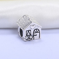 Wholesale Hobby Home - Wholesale Real 925 Sterling Silver Not Plated Family Home European Charms Beads Fit Pandora Snake Chain Bracelet DIY Fashion Jewelry