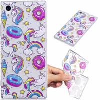 Wholesale yellow bear cases - Alpaca Koala horse Bear Sea lions Panda Deer case Cover For Sony Xperia XA XA1 E5 IMD Clear TPU Silicone cases