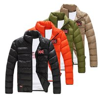 Wholesale Wholesale Men Down Winter Coats - Wholesale- 2016 Fashion Mens Winter Casual Slim Fit Padded Jacket Coat Thick Warm Overcoat Parka Outerwear Male Clothing M-XXL New
