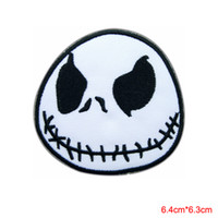 Wholesale cartoon patch clothing - Jack Skellington Nightmare Before Christmas Movie Cartoon Sew Iron on Patch for clothing