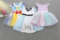 Wholesale American Alice - Retail 2017 Summer New Girl Cartoon Dress Snow White Alice Mermaid Cosplay Party Dress Children Clothing 2-6Y 5098