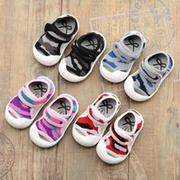 Wholesale Wholesale Camo Mesh - Baby toe protection Camo mesh sandals first walker casual shoes baby boys girls fashion breathable cool pre walker beach shoes for 0-2T