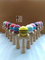 ingrosso giochi di natale giapponese-50 pz 18.5 cm di alta pu linee kendama palla giocattolo abile gioco di giocoleria palla giapponese tradizionale giocattolo palle giocattoli educativi d ...
