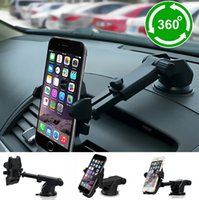 Atacado de carro 360 graus Car Phone Holder pára-brisa Dashboard Mount Braçadeira retrátil para celular Mobile Phone Samsung Gps Car Sty