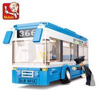 Wholesale Sluban Bus - oys games gifts Sluban 0330 Building City Bus Building Blocks 235+pcs Boys&Girls Enlighten Blocks Educational DIY Bricks Toy For Chi...