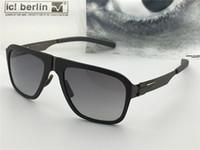 m8 vidalar toptan satış-Almanya tasarımcı erkekler marka güneş gözlüğü IC M8 Pappelplatz ultra-hafif vida olmadan bellek alaşım gözlük çıkarılabilir paslanmaz çelik ...
