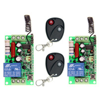 Wholesale 1ch Rf Remote - AC 220V 110V 1 CH 1CH RF Wireless Remote Control Switch System,2X 2CH Transmitter + 2X Receivers,Toggle Momentary,315 433.92